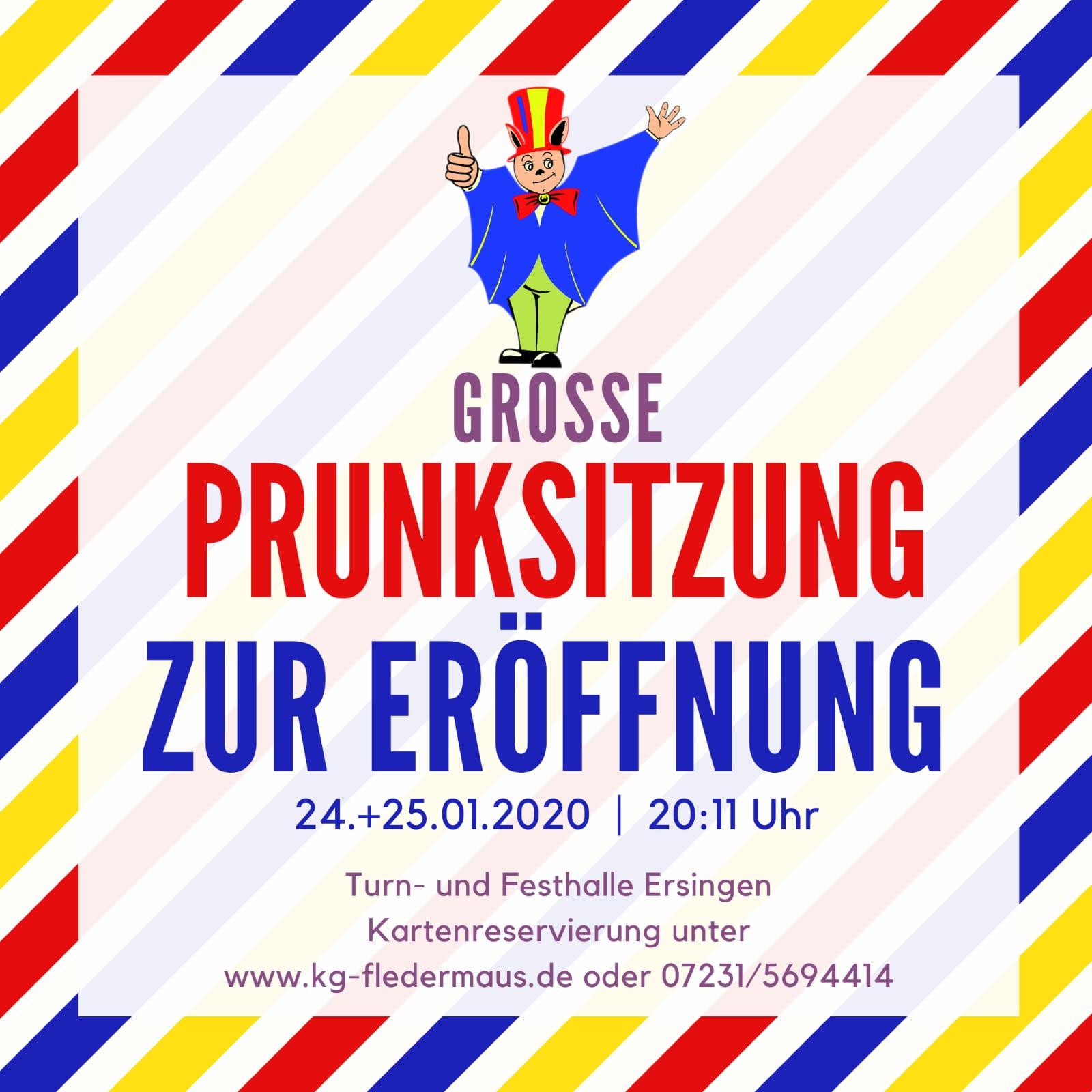 Read more about the article Karten für unsere Eröffnungsprunksitzungen am 24. und 25.01. sichern